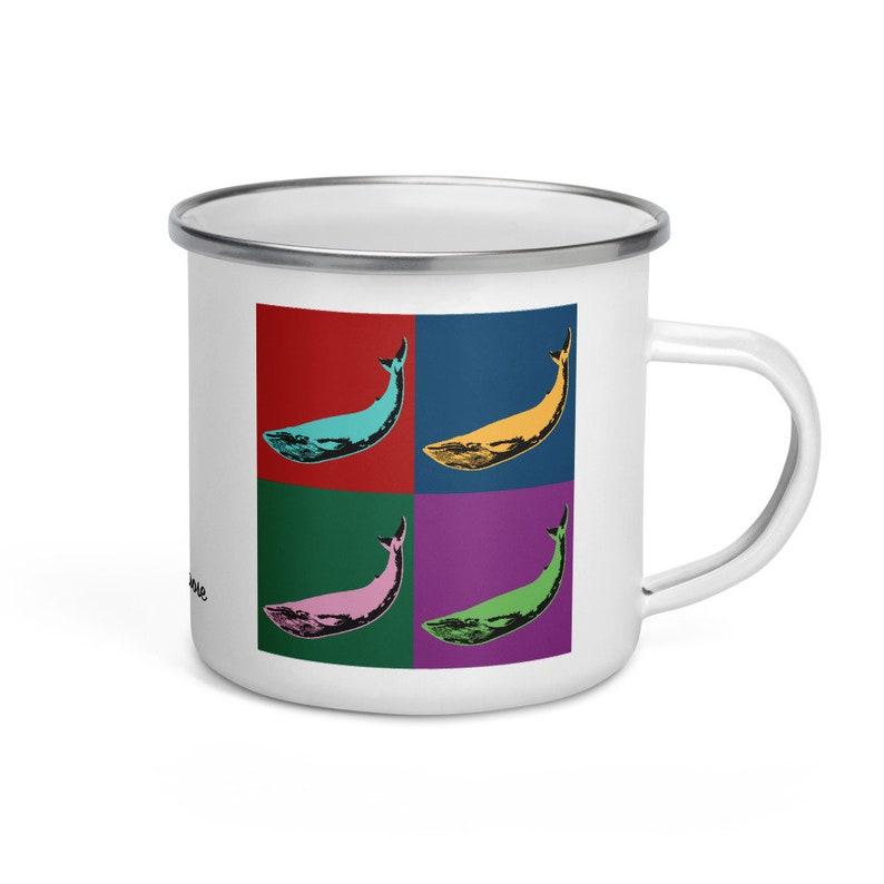 Blue whale  camper mug image 0