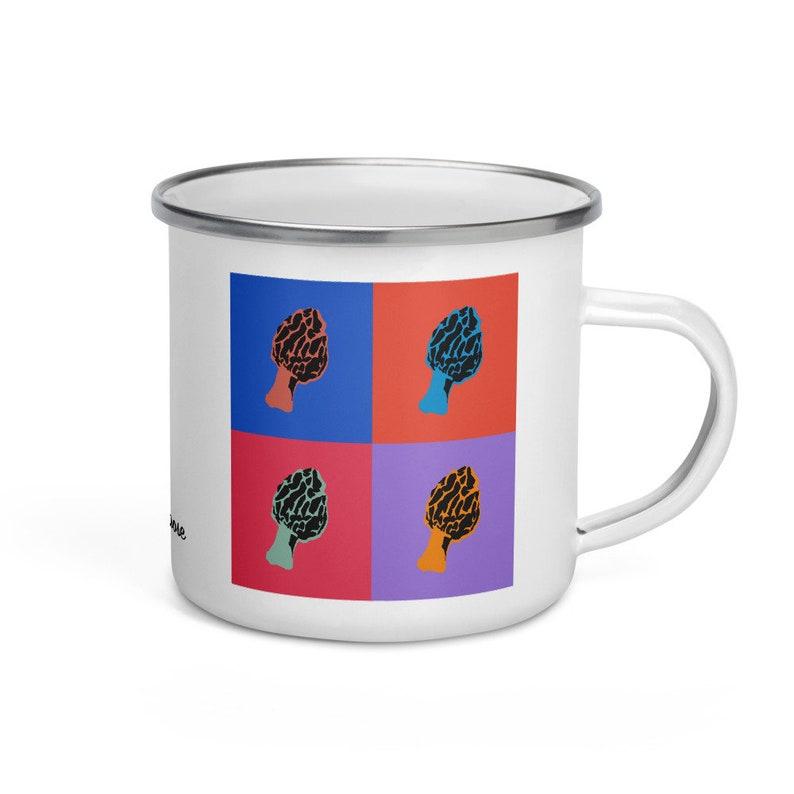 Morel mushroom  camper mug image 0