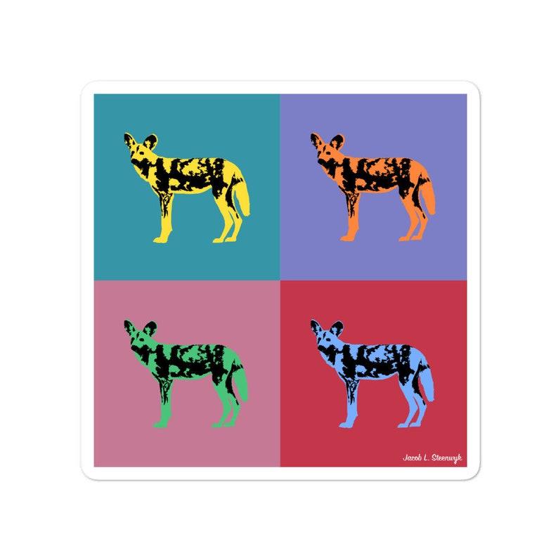 African wild dog  vinyl sticker image 1