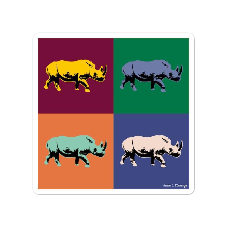 Black rhino  vinyl sticker image 0