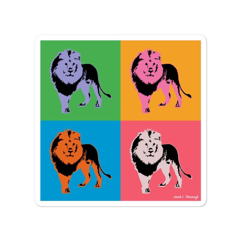 Lion  vinyl sticker image 0