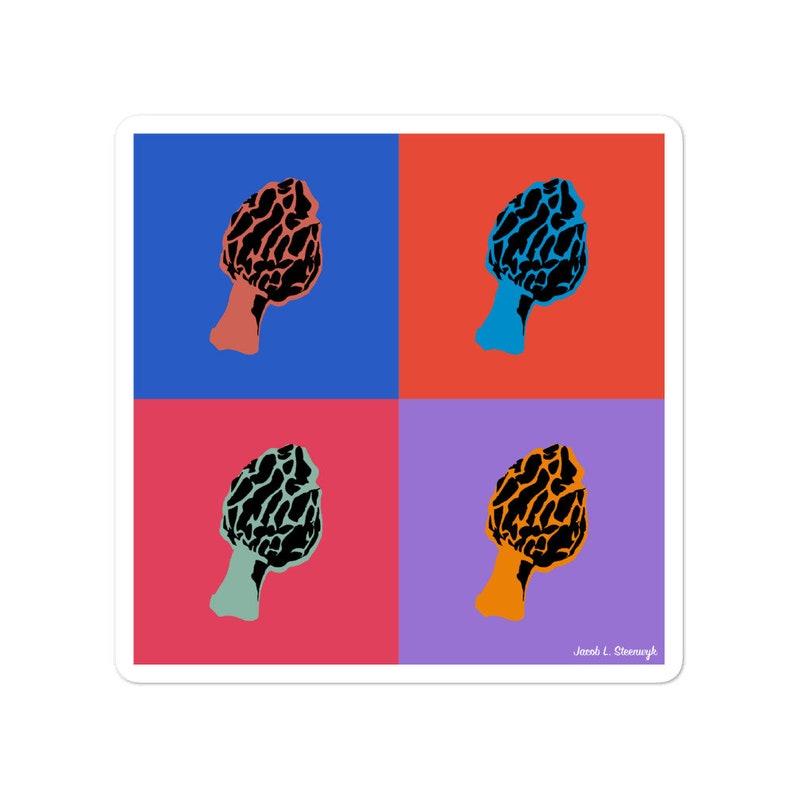 Morel mushroom  vinyl sticker image 1