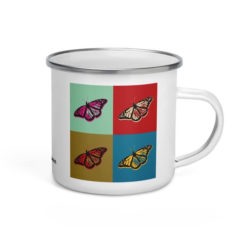 Monarch butterfly  camper mug image 0