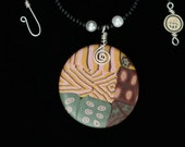 Patchwork Design Necklace Handmade Polymer Clay