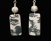 Pearl Mica Series Handmade Polymer Clay Contemporary Earrings