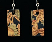 Gold Mica Series Handmade Polymer Clay Contemporary Earrings