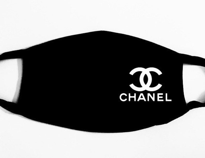 Designer Inspired facemask  face covering Chanel image 0