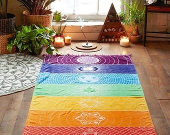 Rainbow Chakra Yoga Mat