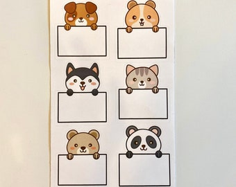 Writable animal planner stickers banner