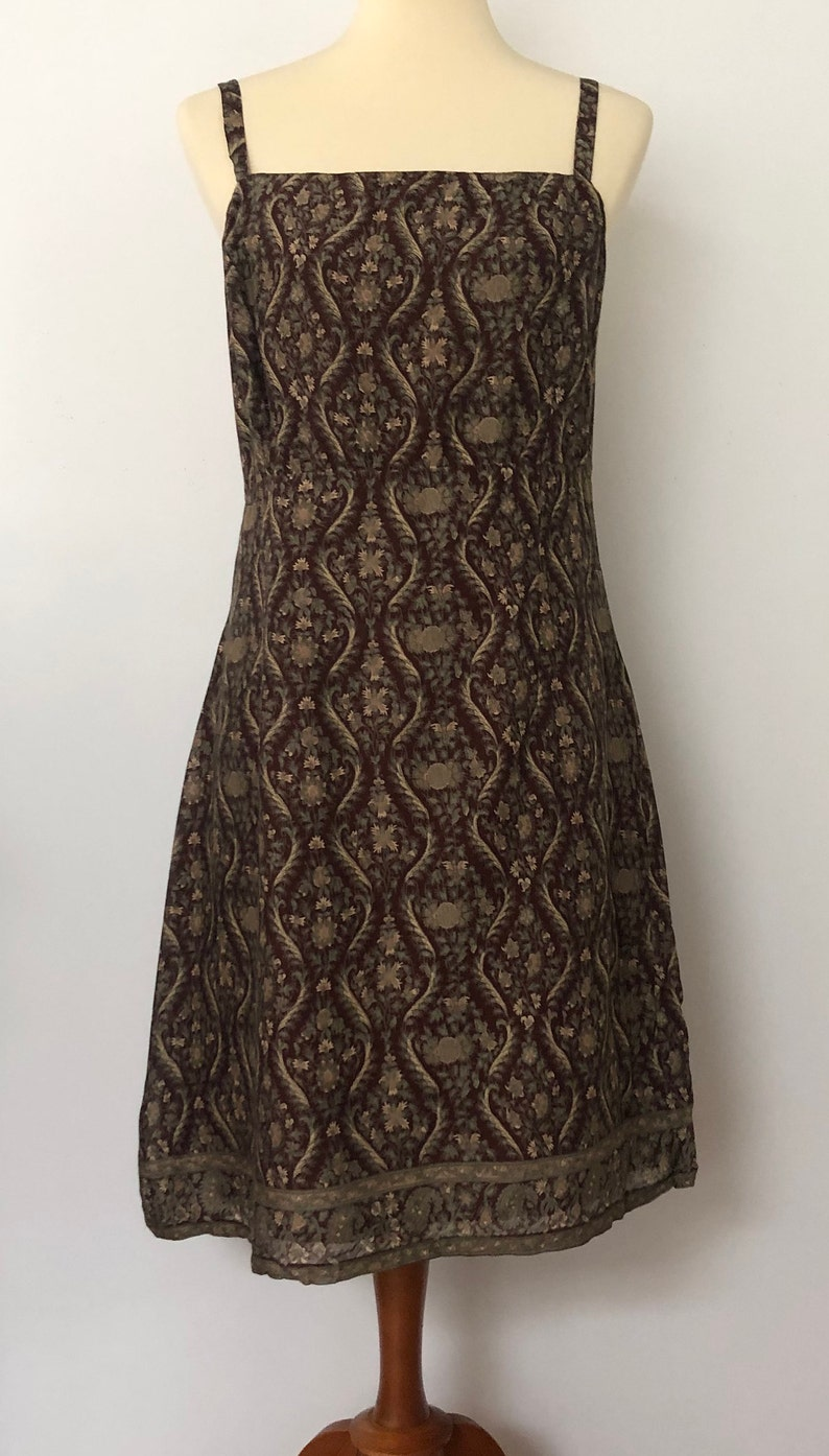 Amazing Vintage Aeropostale Dress with Brown Floral Print