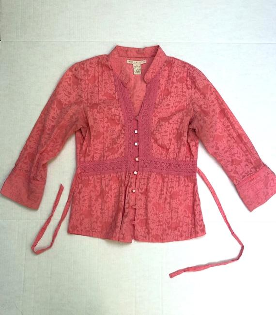 90s / Y2k Pink Boho Blouse