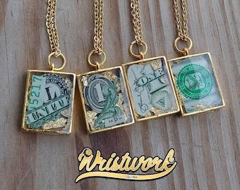 Money Pendant Necklaces
