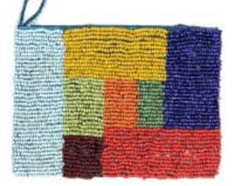 Seed bead coin bag