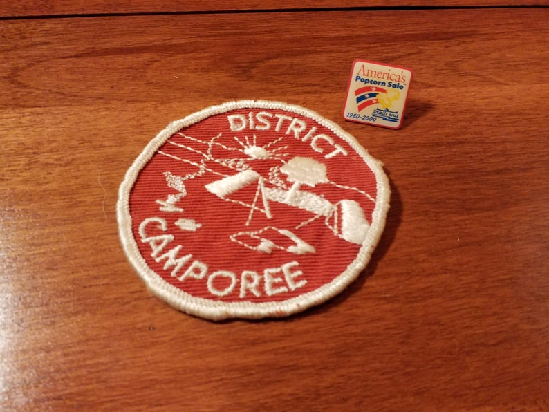 1980-2000 Trails End Popcorn Sale Pin 1960s Boy Scout District Camporee Patch