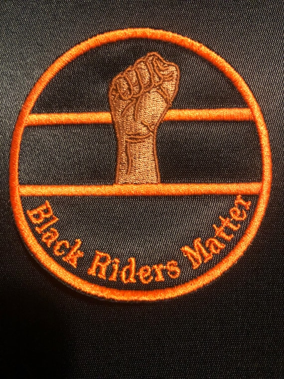 Black rider's matter circle patch