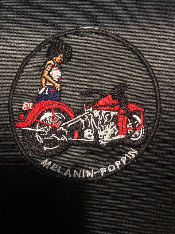Melanin Poppin 3 1/2 circle patch