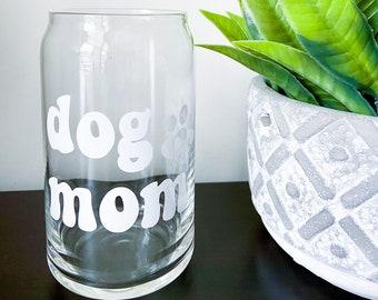 Dog Mom Beer Can Glass | Iced Coffee Glass