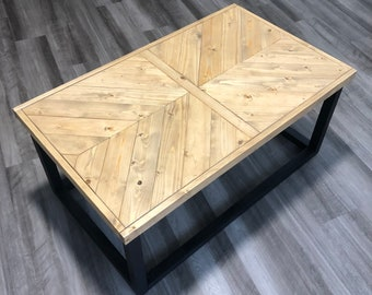Made to Order Chevron Coffee Table