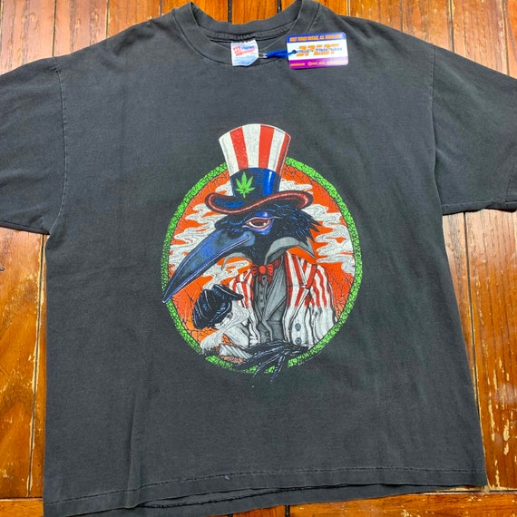 """1992 The Black Crowes """"High As The Moon"""" Tour Tee - image 2"""