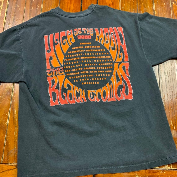 """1992 The Black Crowes """"High As The Moon"""" Tour Tee - image 4"""