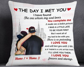 The Day I Met You - I Love You Forever And Always, Personalized PNG File, Couple King And Queen PNG File