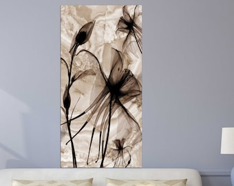Flowers wall art paintings on canvas, home wall decor, canvas painting 3 piece wall art 4 panel wall art 5 panel canvas  flowers canvas