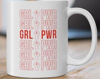 NEW Mug Girl Power Grl Pwr Women Femme Equality Feminism Fem Girls Teen Liberty