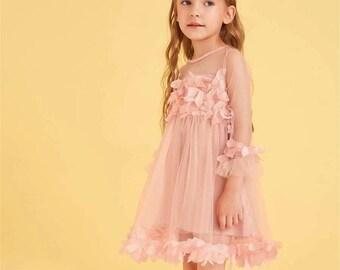 Toddler Girl Birthday Dress Toddler Girls Plants Print Belted Dress Floral Dress For Baby Girl Birthday Gift For Girl