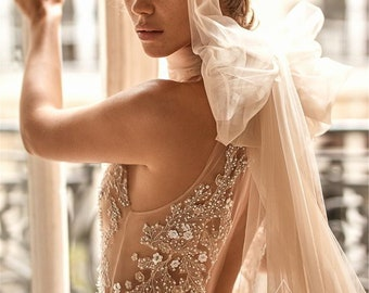 Halter Wedding Dress Etsy