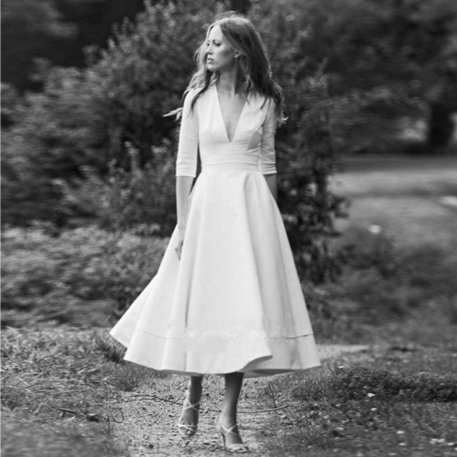 Свадебные Платья Миди В Ретро