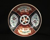 Antique Imari Porcelain Bowl, Hand Painted Soy Sauce Bowl with Gold Gilding Small Bowl China The Ritz Carlton Trinket Dish