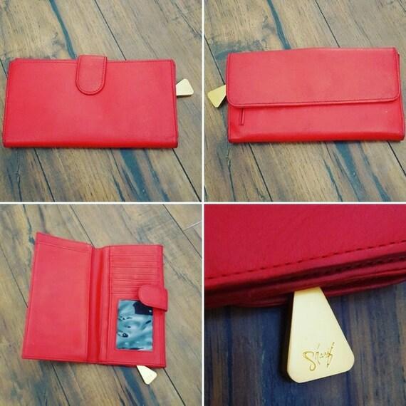 Vintage - Sharif Red Leather Wallet