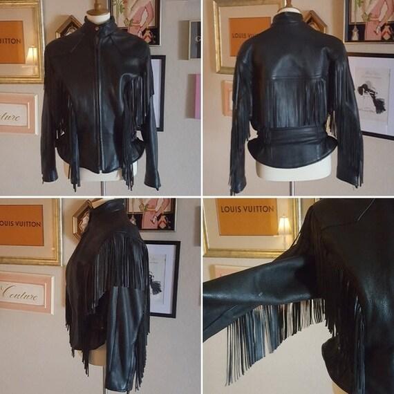 Vintage - Leather Fringe Moto Jacket
