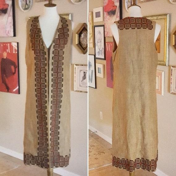 Vintage - Genuine Afghan Embroidered Vest