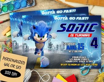 Sonic Invitation Etsy