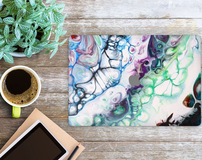 APPLE MACBOOK Color Marble SKINS vinyl decal cover for all body laptop protection