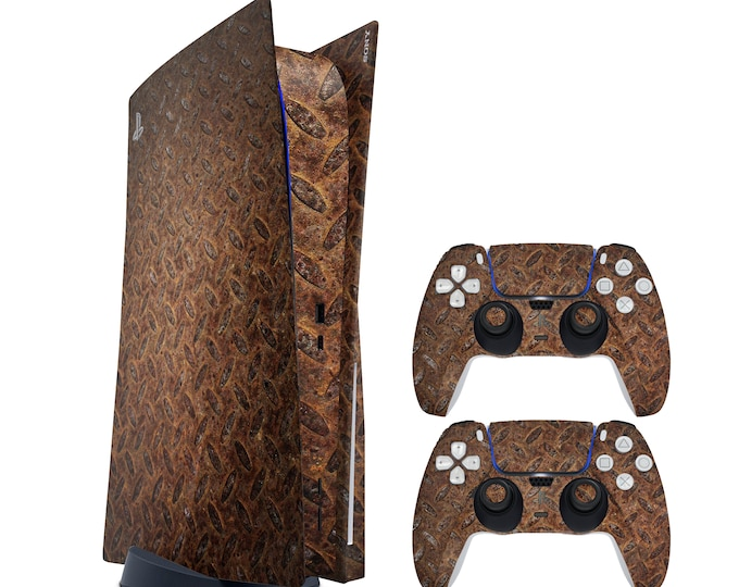 Rusty PS5 console SKIN - Vinyl Game Decal Skins - Waterproof Protective Full Body Ps5 Console Controller Skin  Theme Skin