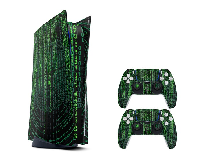 MATRIX PRINT SKIN - Ps5 Skin - Playstation Controller Stickers - Durable Protective Skin - Ps5 Console Skin - 3mm Ps5 Vinyl Sticker Skin