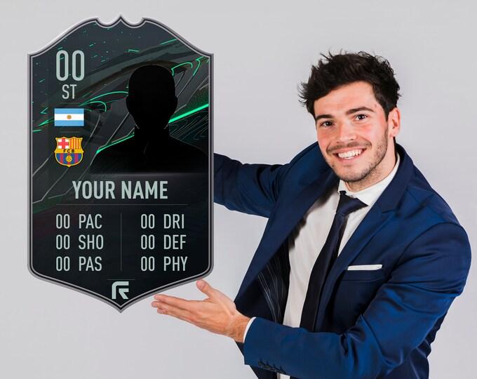 FIFA Ultimate Customized Team card &4 | FIFA Team card | Personalized Football Card | Custom FIFA Ultimate Team Card | Personalized Gifts