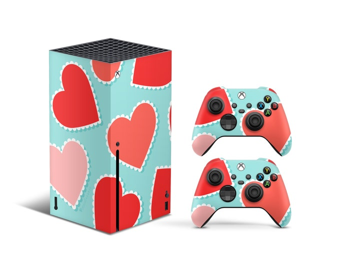 Skins Xbox Series X  Heart theme Full Body Cover and Controller