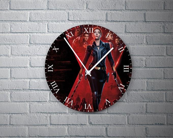 11.8'' Wall Clock WIDOW Black Design Vinyl Clock Decal, Widow Black Wall Clock, Vinyl Home Decor Wall Clock, Custom Widow Black Wall Clock