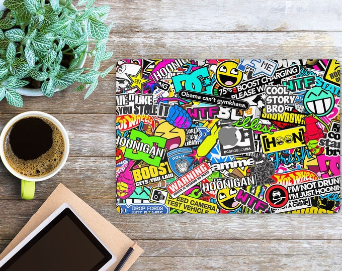 APPLE MACBOOK StickerBomb SKINS vinyl decal cover for all body laptop protection