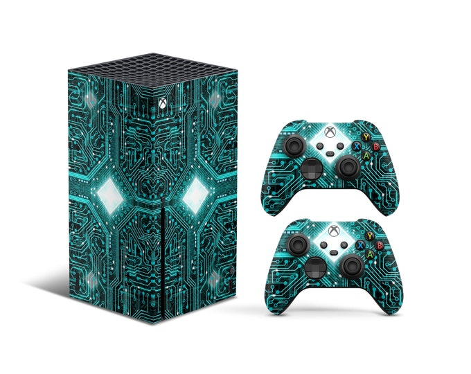 XBOX SERIES X SKIN - Xbox Controller Skin - Video Game Sticker - Electric Desing theme Xbox Body Cover - Xbox Skin Decal - Gift For Gamer