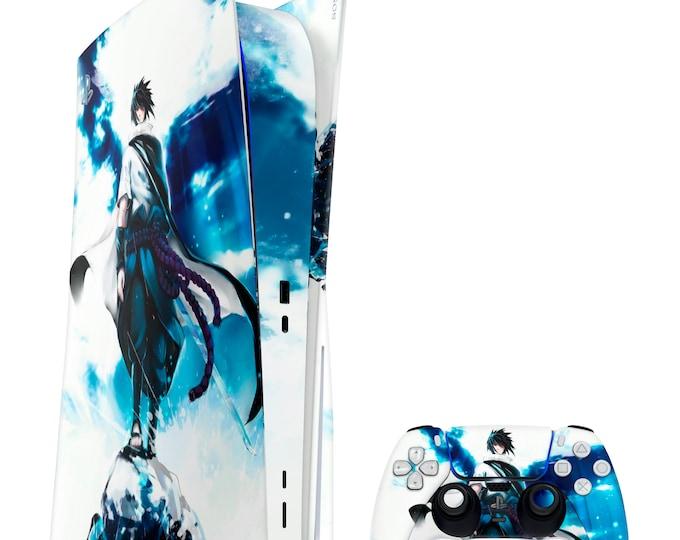 PS5 Skin SASUKE UCHIHA   Vinyl Decal   Sony Playstation 5 & DualSense Protection PS5