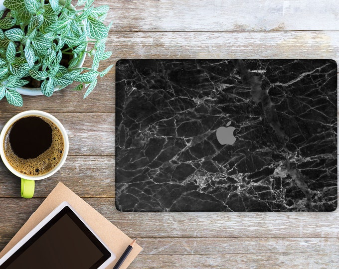 APPLE MACBOOK Black Marble SKINS vinyl decal cover for all body laptop protection