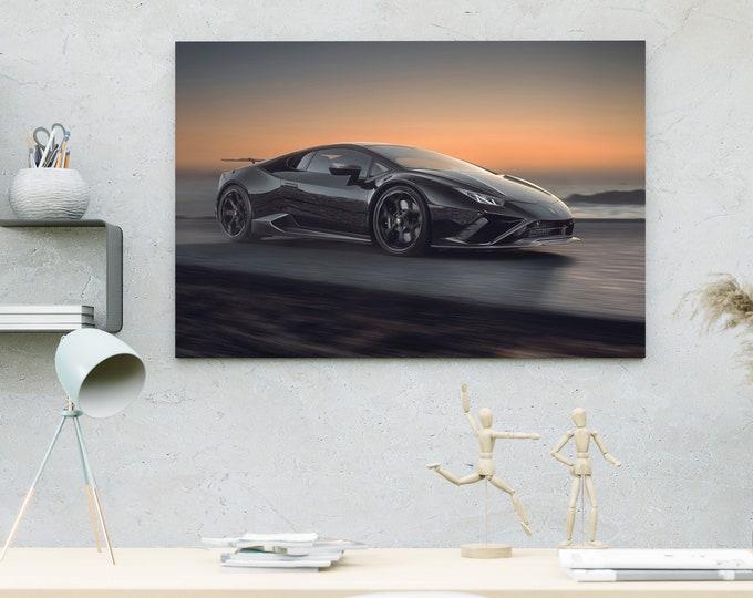 Lamborghini Sports Car Canvas   Art Canvas   Wall Art Canvas   Framed Painting   Print Home Wall Decor   Bedroom Wall Art Canvas   Canvas