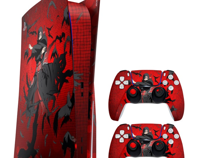 PS5 Skin ITACHI UCHIHA   Vinyl Decal   Sony Playstation 5 & DualSense Protection PS5