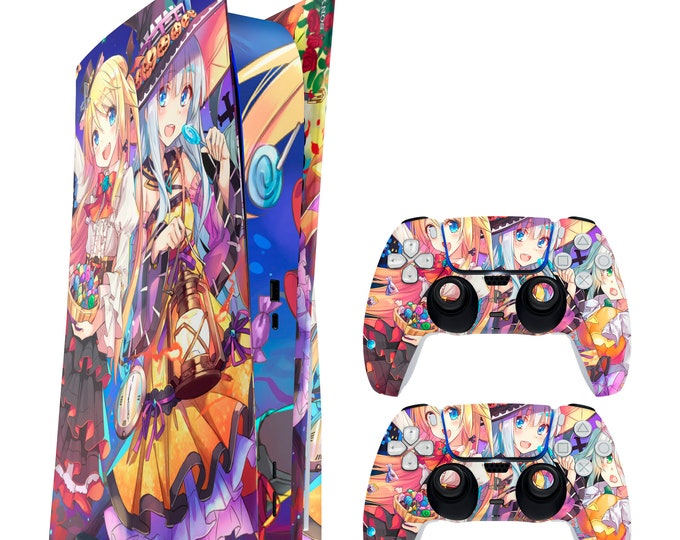 Anime 4 PS5 Console & Dual Sense Vinyl Decal Skin Decal Wrap Sticker | PS5 Disc Decal Wrap Skin for PlayStation 5 Console and Controllers