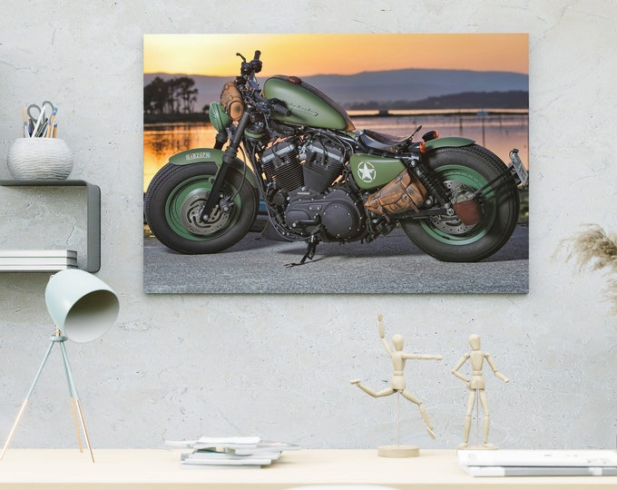 Motobike Canvas Painting Posters   Art Canvas   Wall Art Canvas   Framed Painting   Home Wall Decor   Bedroom Canvas   Canvas Art Printing