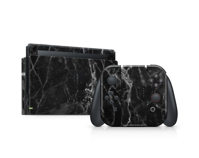 Nintendo Switch BLACKMARBLE theme Skin wrap decal vinyl Protect